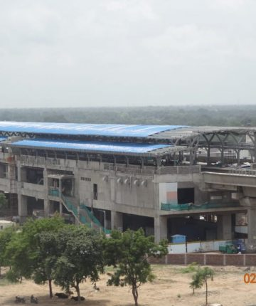 Arial View of Vastral Gam Station
